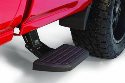 Exterior Accessories - Amp Research  - AMP Research 75407-01A BedStep2 Retractable Truck Bed Side Step for 2014-2018 Silverado & Sierra 1500, 2015-2019 Silverado & Sierra 2500/3500, All Beds