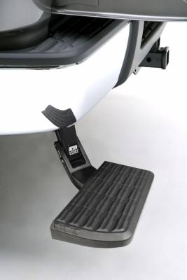 Amp Research  - AMP Research 75300-01A BedStep Retractable Bumper Step for 2007-2013 Silverado & Sierra 1500, 2007-2010 Silverado & Sierra 2500/3500 (Excludes 2007 Classic & Flareside Models) - Image 2