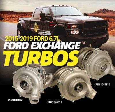 Turbos - Single Turbo - BD Diesel - EXCHANGE TURBO - FORD 2017-2019 6.7L PICK-UP (HC3Z-6K682-A)