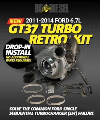 Ford/Powerstroke - Turbos - BD Diesel - 6.7L POWER STROKE RETROFIT TURBO KIT - FORD 2011-2014 F250/F350 & 2011-2016 F450/F550 1045824