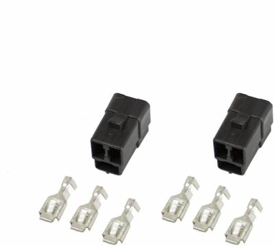 Gauges And Pods - Gauge Accessories - Auto Meter - Auto Meter Connector; Wiring; 3 terminal; for Elec. (Short Sweep) Gauges; qty. 2 3298